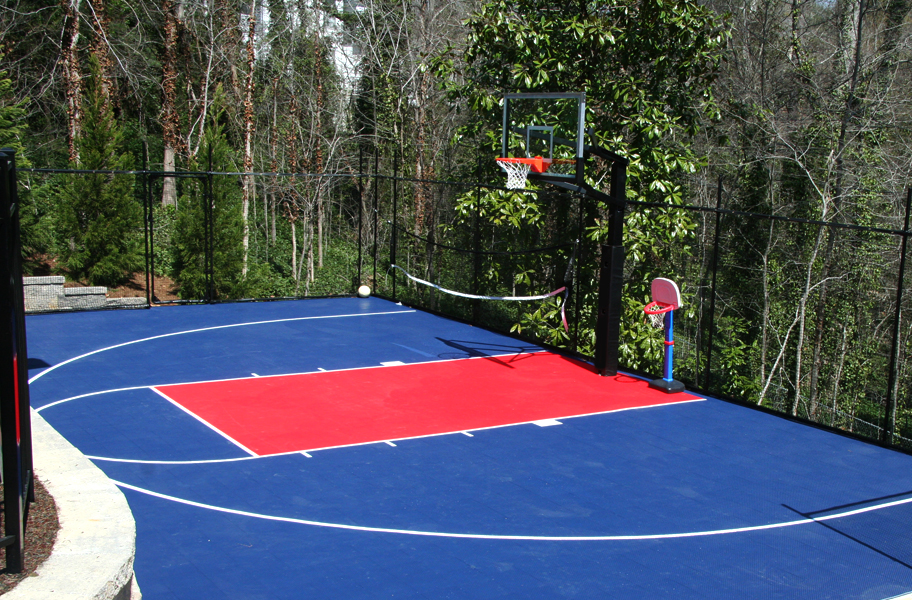 Incstores outdoor basketball volleyball sport soccer court for Sport court paint